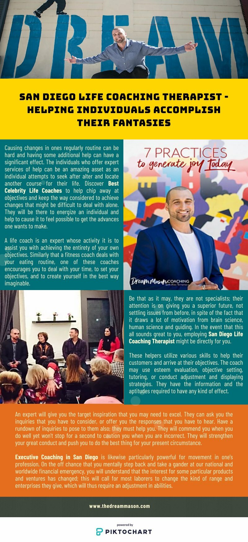 San Diego Life Coaching Therapist - Helping Individuals Accomplish Their Fantasies