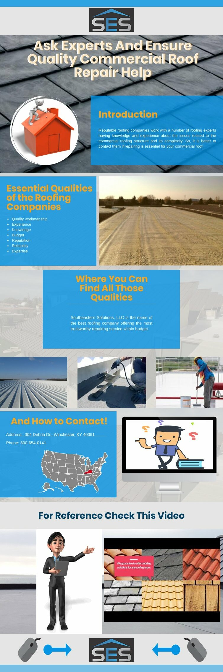 Ask Experts And Ensure Quality Commercial Roof Repair Help Piktochart Visual Editor