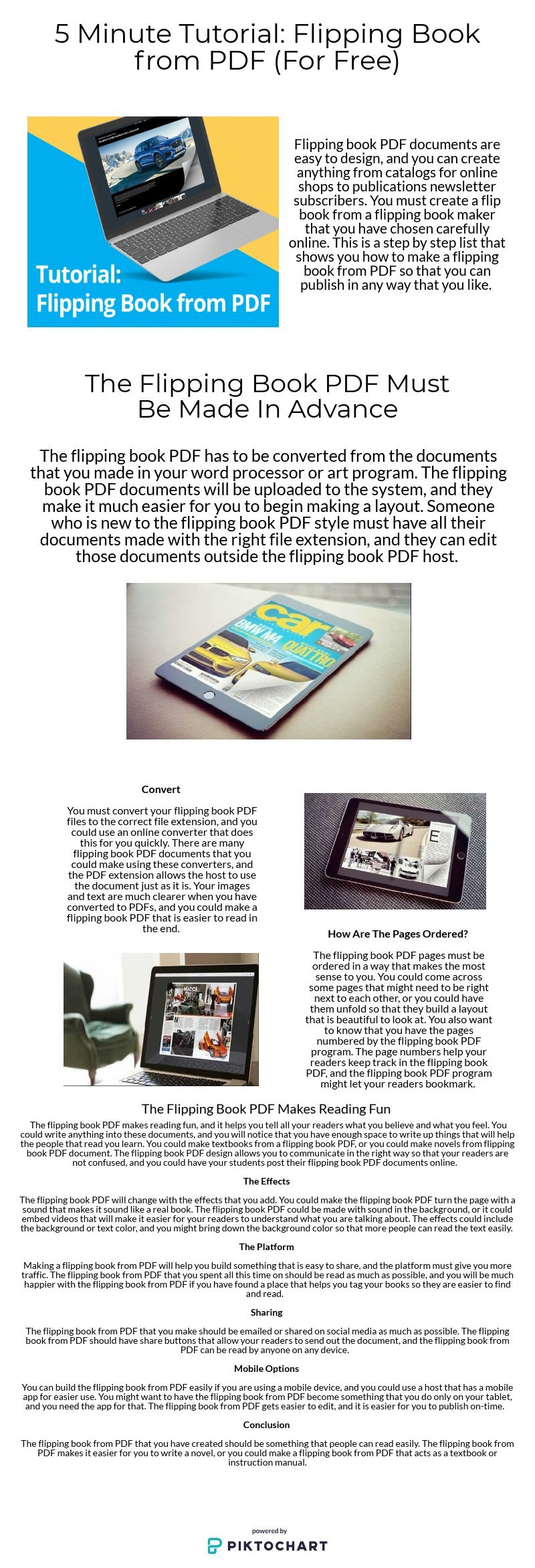 5 minute tutorial flipping book from pdf for free piktochart