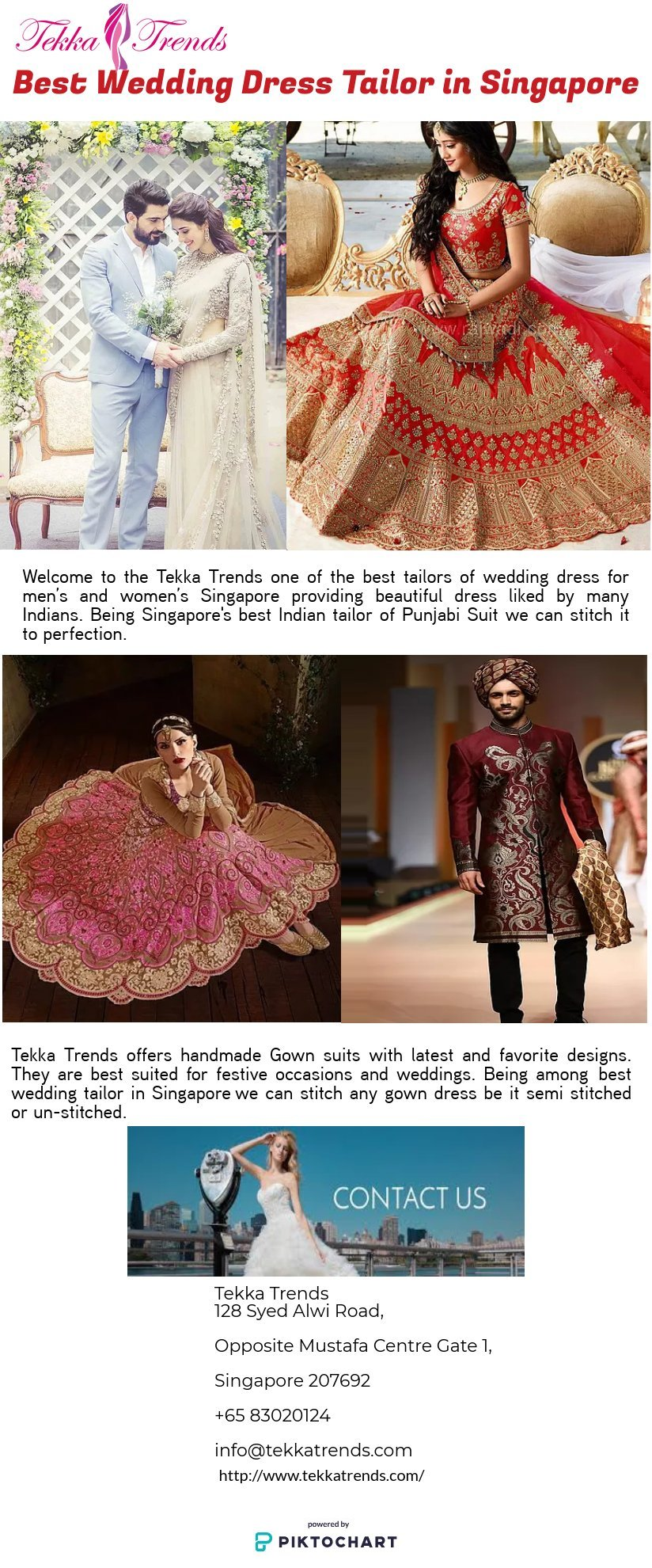 Wedding dress tailor | Piktochart Visual Editor