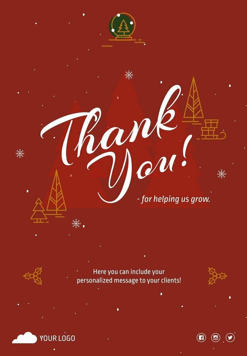 Holiday Thank You Flyer