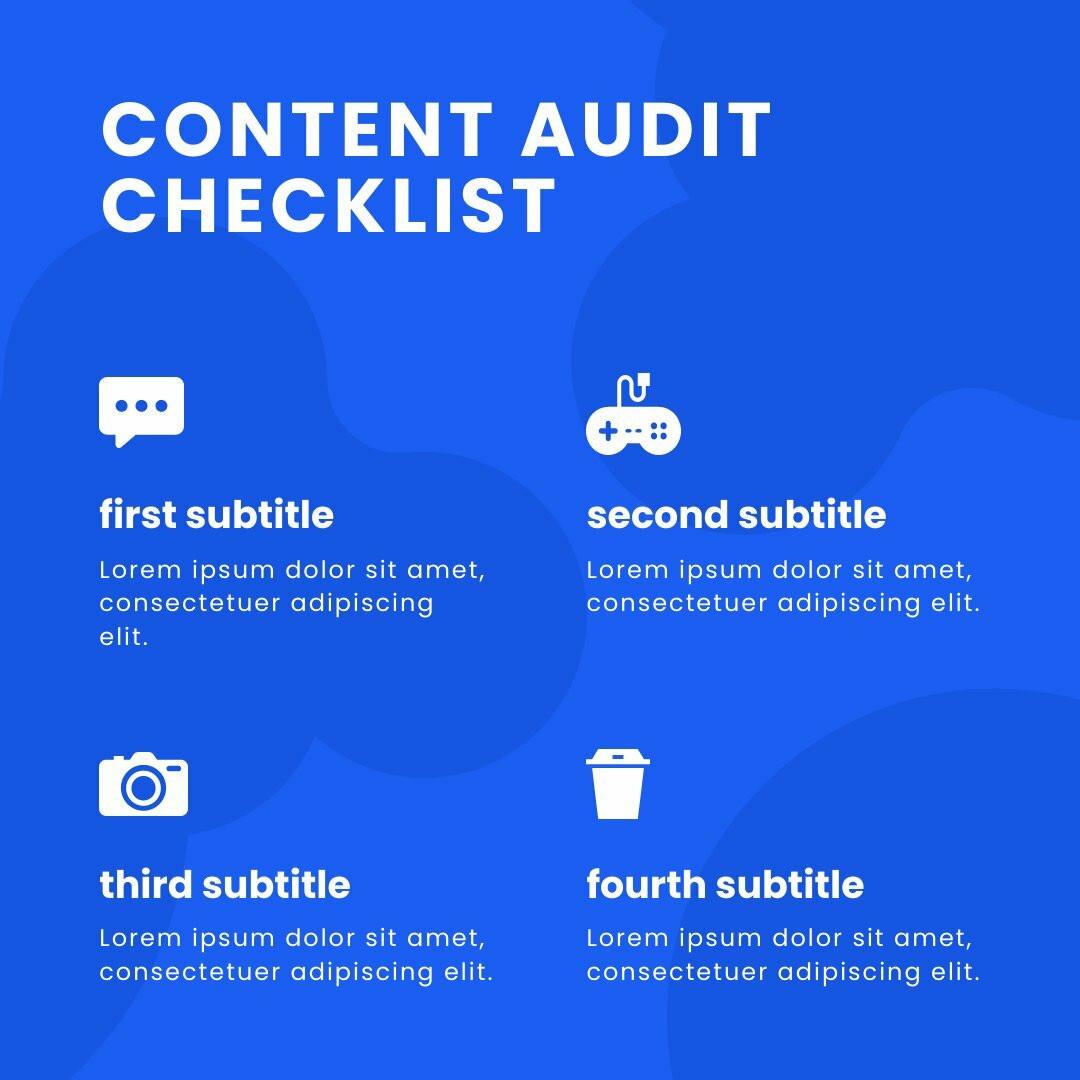 Content Checklist Instagram Post