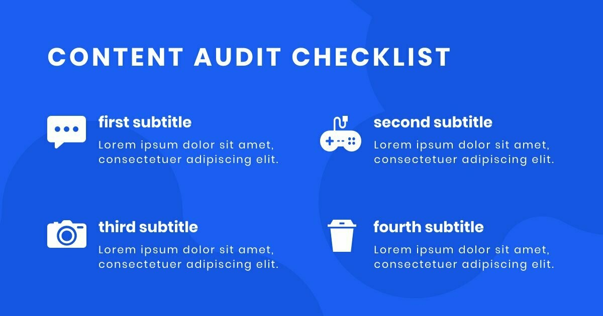 Content Checklist Facebook Post