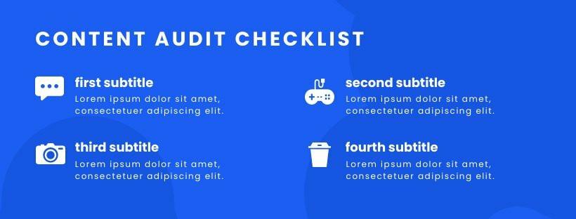 Content Checklist Facebook Cover