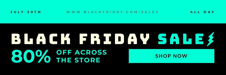 Black Friday Promo Twitter Header