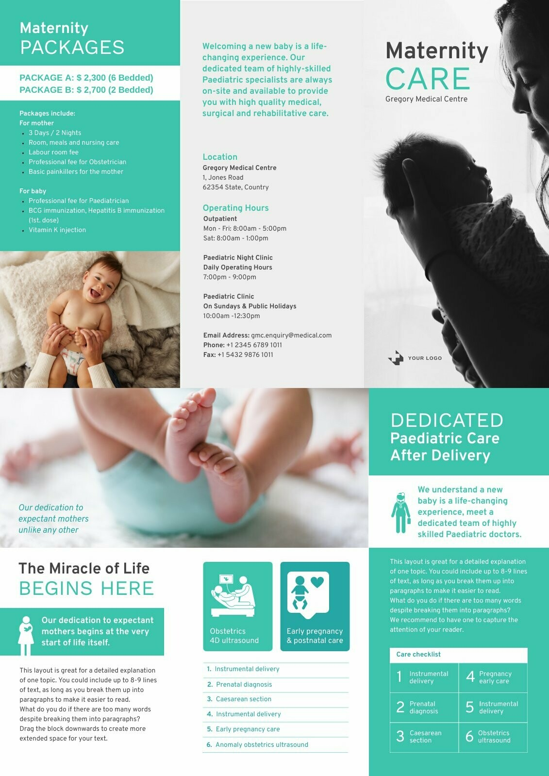 Maternity Trifold Brochure