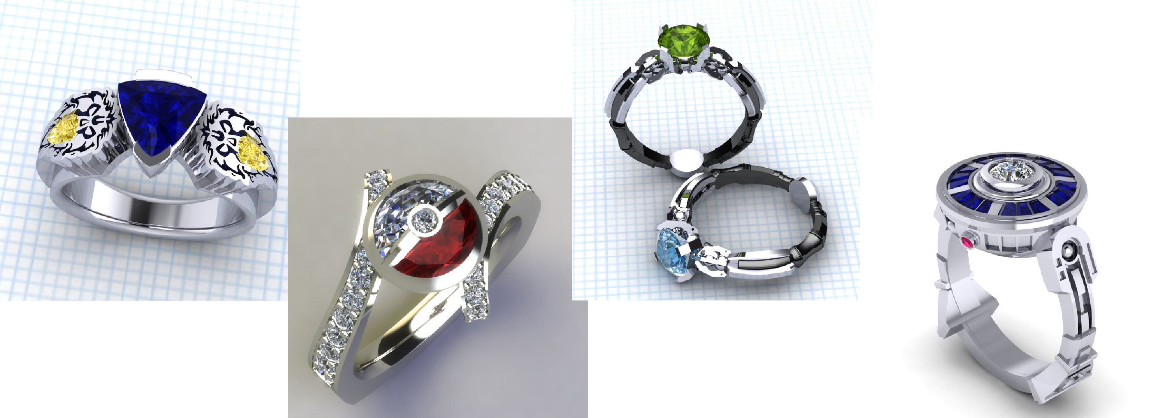 zombie rings geeks gamer beautiful for rd wedding nerd cake ring engagement diamond of elegant