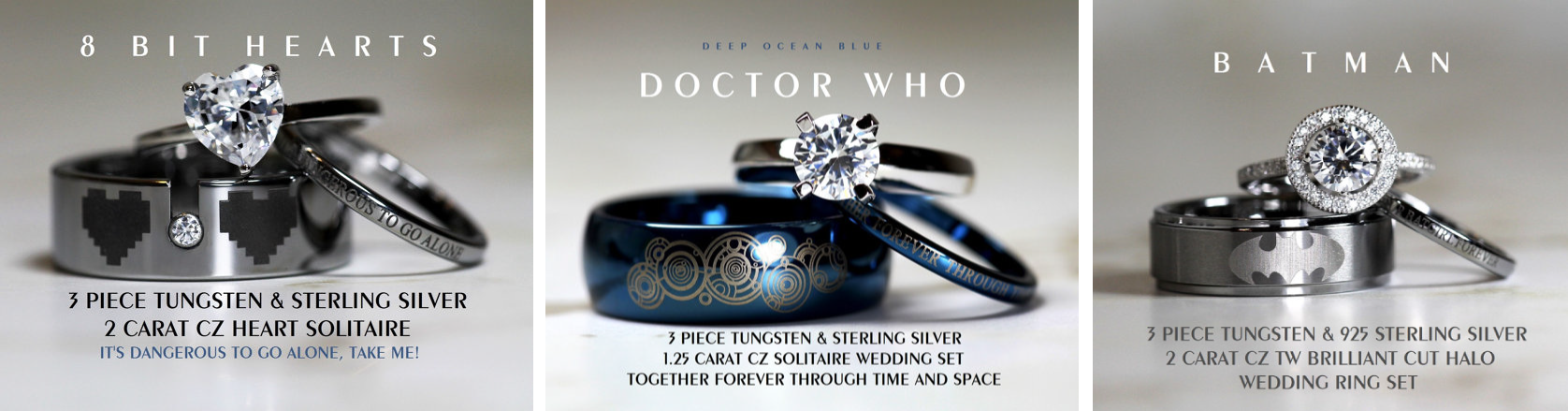 ring nerdy rings bands engagement for men wedding nerd