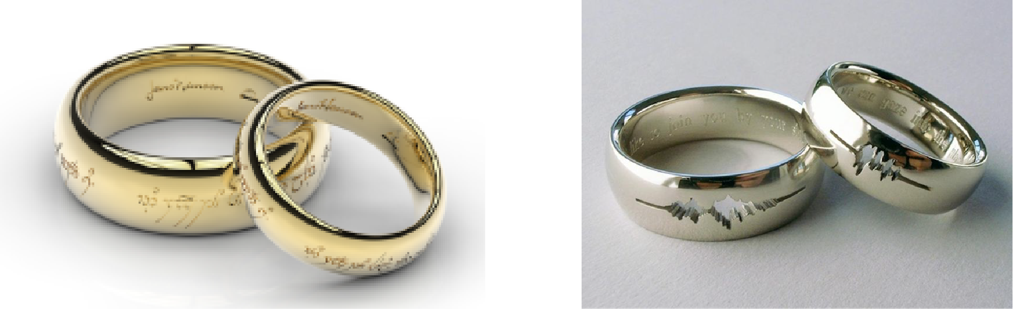 inspired band nerd unique and engagement forever geeky dovah wedding in skyrim rings now